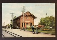1908 Hillsdale to Camden Michigan Trunk Railway Lake Shore Depot Postcard Cover