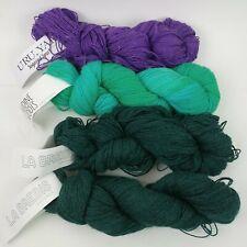 4 Knit Crate Skeins Yarn La Brebis Uru Sugared Sport Audine Wools Alpaca Wool P7