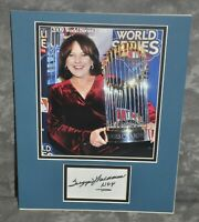 "Suzyn Waldman Autographed 3x5 Card Matted 11"" x 14"" NY Yankees Announcer JSA COA"