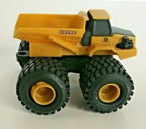 "ERTL John Deere Mini Monster Treads Dump Truck Yellow Construction Farm Toy 2.5"""
