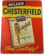 """""""Chesterfield Cigarettes"""" Tobacco Decor Art Smoke Shop Sign"""