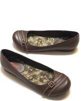 Bongo Womens US Size 9 Brown Ballet Flats Fashion Comfort Shoes Floral Insoles