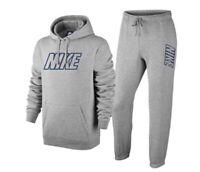 Nike Herren Trainingsanzug Fleece mit Grossem Logo , M , Grau , Neu