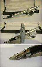 Stilografica Pirre Paul's Fountain Pen Satin Chrome - Nib Steel siz. M