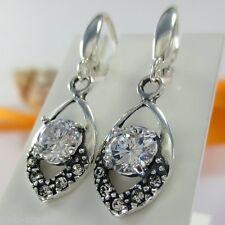 A105 Ohrringe 925 Sterling Silber Schmuck mit Swarovski Elements Kristallsteine