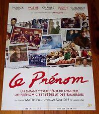 AFFICHE CINEMA  2012 LE PRENOM BRUEL BENGUIGUI BERLING de TONQUEDEC DELAPORTE