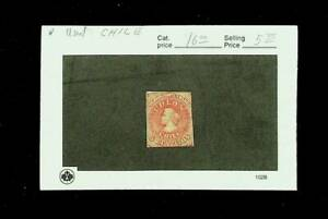CHILE 5c USED STAMP #8 CV $16