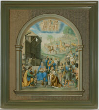 After Luini - Large Framed 1866 Lithograph, Adoration of the Magi