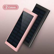 900000mAh Battery Charger Solar Digital Power Bank LED Dual USB For Mobile 2020
