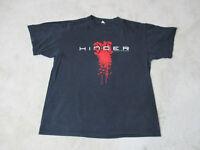 Hinder Concert Shirt Size Adult Large Black Red Rock Music Band Tour Mens *