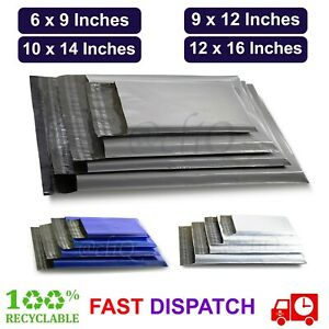 MAILING BAGS Grey STRONG Parcel Postage Plastic Post Poly mailer SELF SEAL