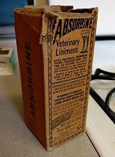 Vintage Horse Liniment Bottle with Original Box - Authentic