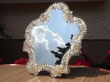 Exklusiver Murano Gold Blüten Schmink Tisch - Spiegel Wand um 1950 makeup mirror