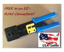 Free 30 pcs connector w Ez Rj45 Crimping Tool for Cat5e/6 Connector