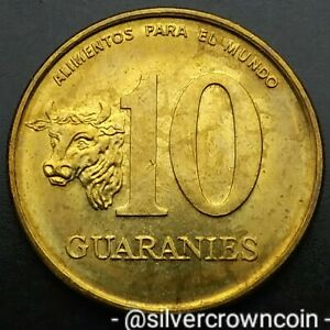 Paraguay 10 Guaranies 1996. KM#178a. F.A.O. coin. Cow. Bull. Animals.