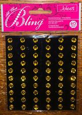 JOLEES Yellow Gems BLING ROUND GEMSTONES Craft Making SCRAPBOOK STICKERS 60 Pc
