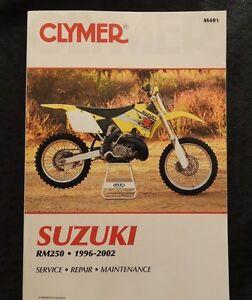 1996-02 Suzuki 250 RM250 Moto de Cross Servicio Reparación Mantenimiento Manual
