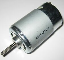 High Torque 12V DC Electric Motor - Long 3.17 mm Dia. Knurled Shaft - PMDC