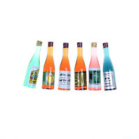 6pcs/set Kitchen Drink Wine Juice Bottles 1:12 Dollhouse Miniature Furniture FJ