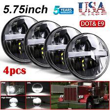 "DOT 4pcs 5 3/4"" 5.75"" Projector LED Headlights Sealed Beam for Peterbilt 359 348"