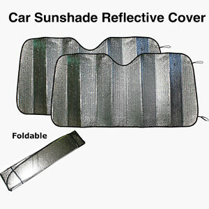 2x Cars SUV Windshield Sunshade Sun Visor Cover Front Rear Window UV PROTECTOR