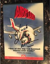 AIRPLANE-DVD-LESLIE NIELSON PERSONALY SIGNED-WATCH VIDEOS IN DESCRIPTION-FUNNY!