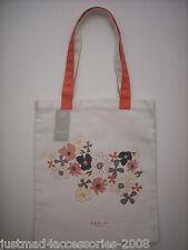 Radley-Hippy Perro Lona De Algodón Bolso Tote/compradores Coral Radley & Estampado Floral