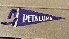 Vintage Petaluma California City Hall Felt Banner Pennant