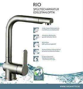 SCHÜTTE Rio Spültischarmatur Wasserhahn Edelstahloptik 79826