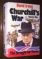 SUPER RARE David Irving Churchill's War vol 1 Struggle for Power HC/DJ Veritas