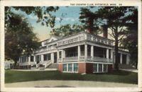 Pittsfield MA Country Club c1920 Postcard