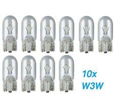 10x W3W W2.1x9.5d T10 12V 3W Glühlampe Glühbirne Soffitte Auto Lampe Glassockell