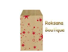 50 Pochettes kraft cadeaux sac sachet papier bijoux emballage motif brun 7x12 cm