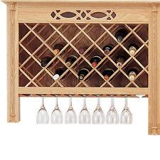 Wine Lattice - Red Oak - pair