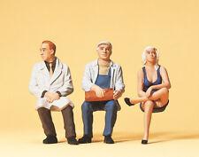 Preiser 63050 Scale 1:3 2 Gauge 1 Figurines Seated Persons Hand Painted # Nip