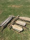 Antique Vintage Sleds Wooden and Metal  Flexible Flyer  American Acme And More