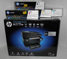 HP M177fw Wireless Color Laser All-In-One Printer w/ Fax - 4 New Toners Included