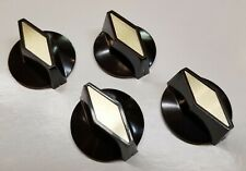 Rickenbacker Set of 4 Vintage Guitar Knobs Brown and Gold - 03572