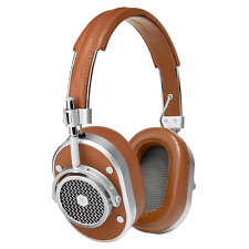 MASTER & DYNAMIC MH40 Auricular Silver Metal / Brown Leather Nueva Garantía En