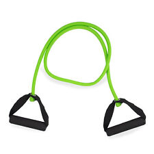 Phoenix Fitness Green Resistance Tube Band Set, Foam Handles, Home and Gym