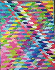 Diagonal Rainbow Wall Hanging Quilt