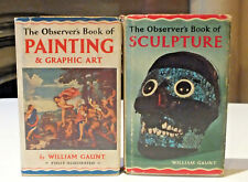 2 x THE OBSERVER'S BOOK OF SCULPTURE AND PAINTING & GRAPHIC ART BOOKS