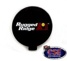 "Fog Light Cover Jeep Wrangler CJ YJ TJ JK 6"" Round Black 15210.53 Rugged Ridge"