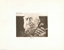 *Vintage* CHARLES BRAGG 1975 Duotone Lithograph From Etching EXHIBIT A Lawyer