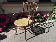 antiker Bugholz Armlehnstuhl Schreibtisch - Stuhl Chair Tisch Fischel m Geflecht