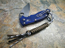 PARACORD 3 COLOR SNAKE KNOT KNIFE LANYARD W/ SILVER BEAD AMERICAN MADE