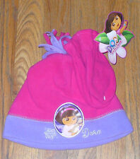 New Nick Jr. Dora the Explorer Hat and Mittens Pink Purple Toddler Cute!
