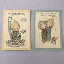 Rare Lot of 2 1970's Vtg Hallmark Betsey Clark Postcards Lg @ 5x7 Useful Gladnes