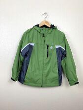 Zeroxposur Boys Medium M 10/12 Reversible Fleece Jacket Green Black