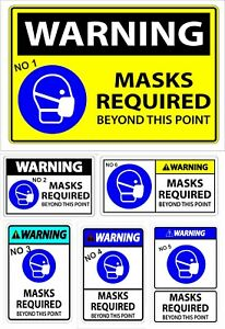 SOCIAL DISTANCING Wear A Mask  FOR SHOPS